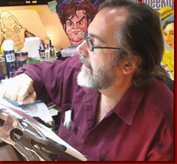 Sam Klemke, 35 year veteran Gypsy Caricature Artist